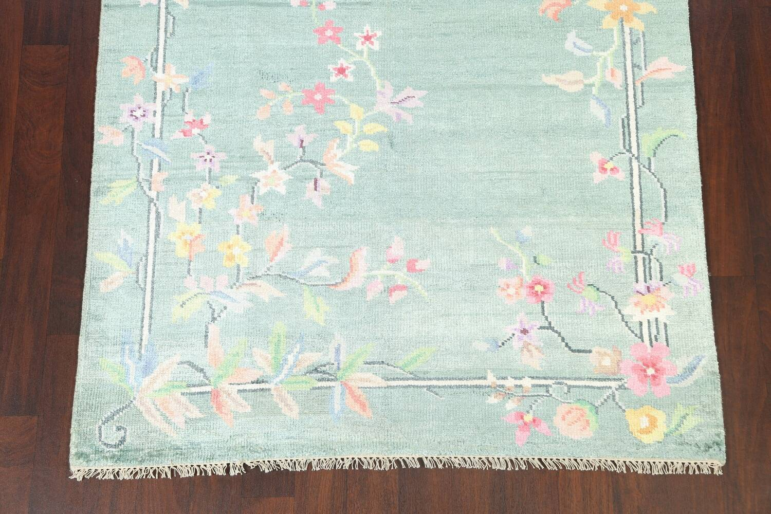 Floral Contemporary Abstract Oriental Area Rug 5x8 image 5