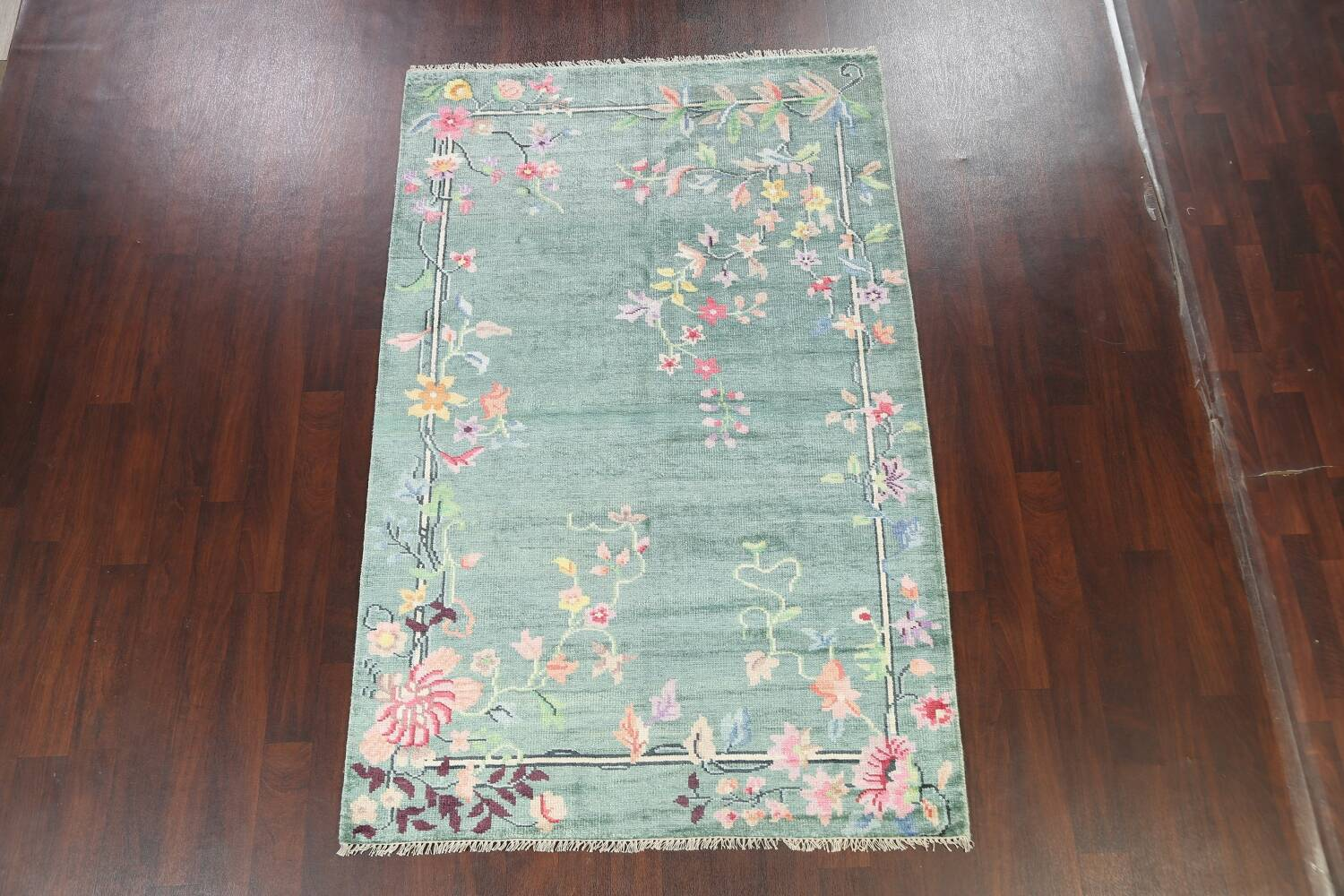 Floral Contemporary Abstract Oriental Area Rug 5x8 image 13