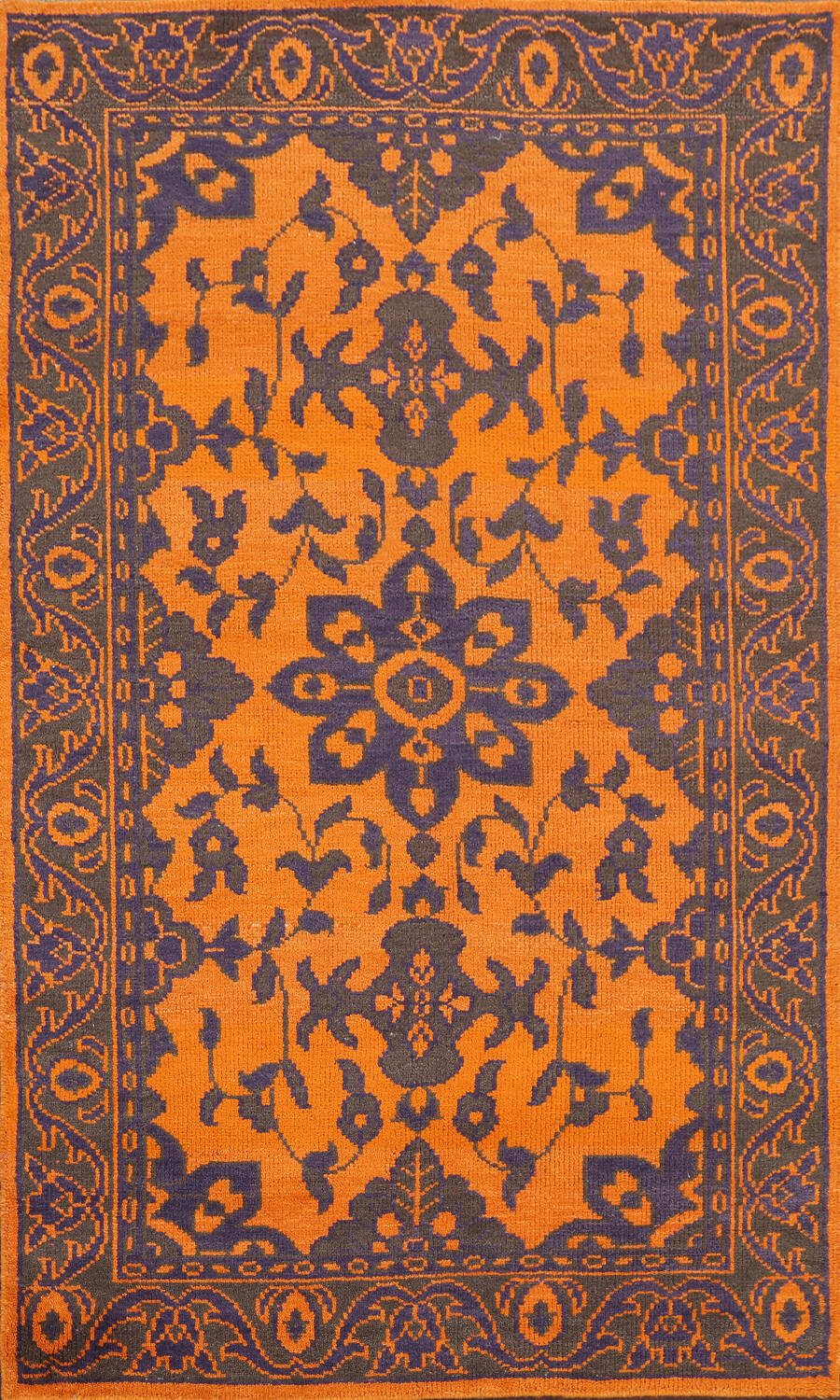 Floral Abstract Oriental Area Rug 5x8 image 1