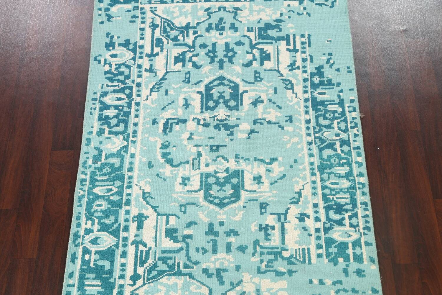 Contemporary Abstract Oriental Area Rug 5x8 image 3