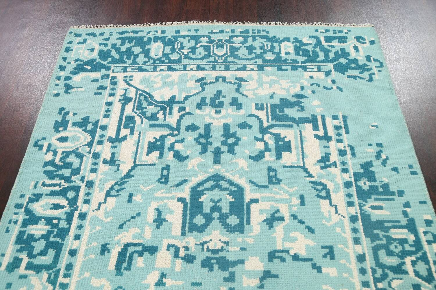 Contemporary Abstract Oriental Area Rug 5x8 image 9