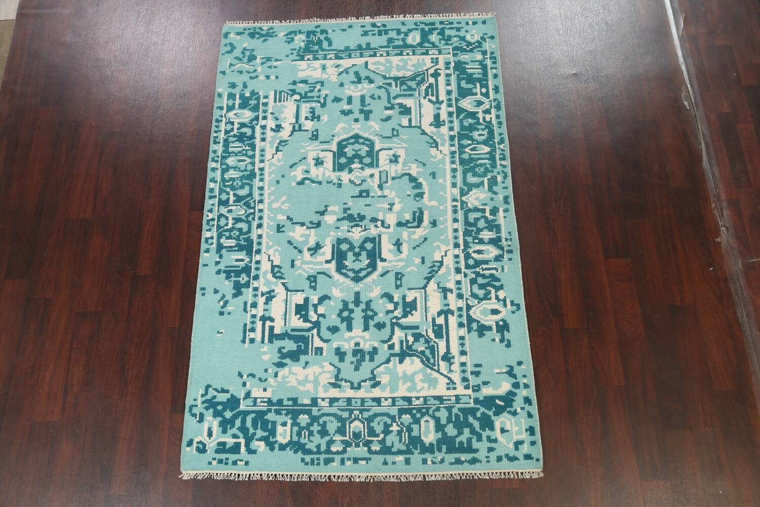 Contemporary Abstract Oriental Area Rug 5x8 image 13