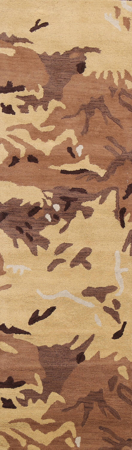 Contemporary Abstract Runner Rug 3x10 image 1