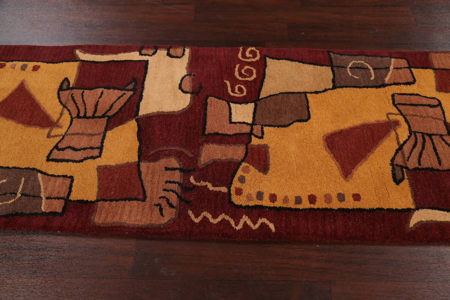 Abstract Runner Rug 3x8 image 11