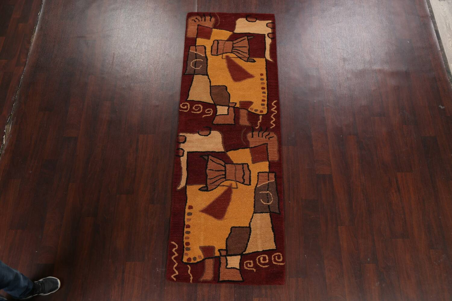Abstract Runner Rug 3x8 image 12