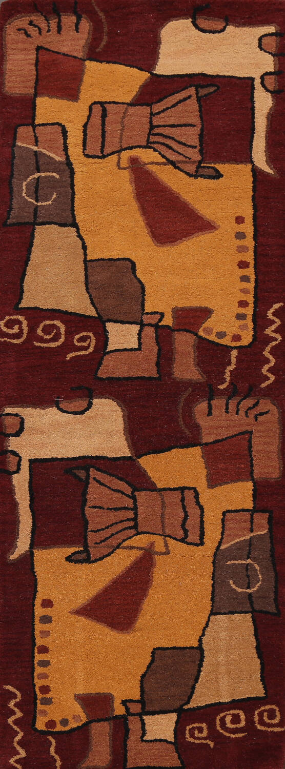 Abstract Runner Rug 3x8 image 1