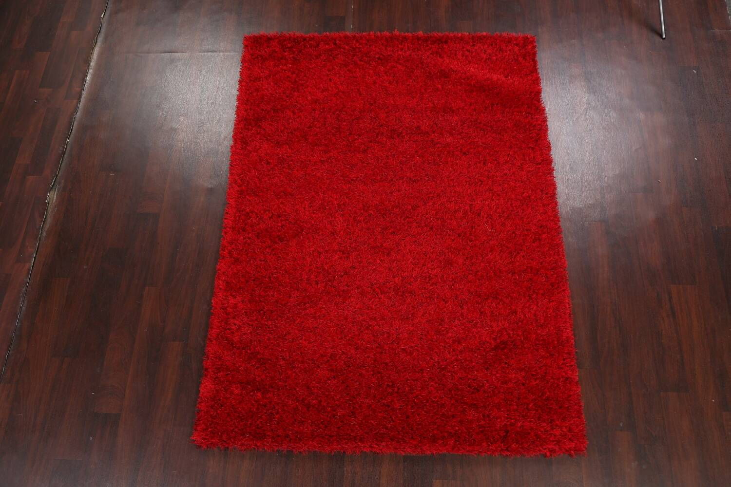 Red Plush Shaggy Area Rug 5x7 image 2