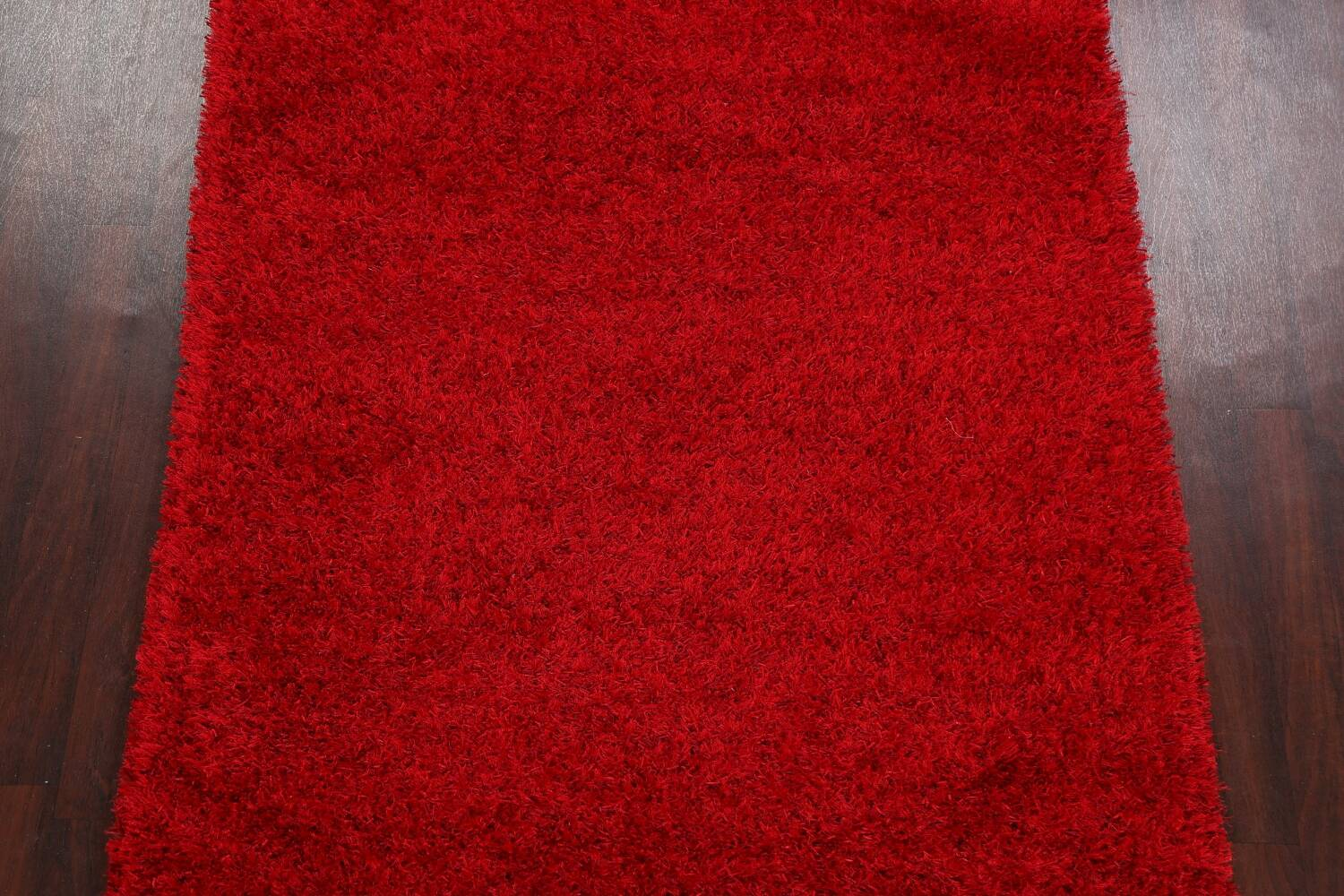 Red Plush Shaggy Area Rug 5x7 image 3