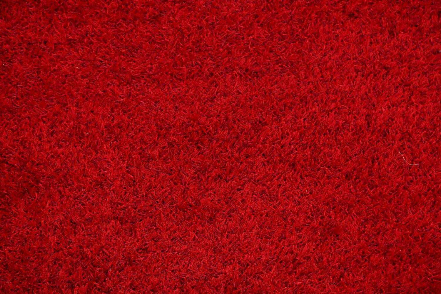 Red Plush Shaggy Area Rug 5x7 image 4