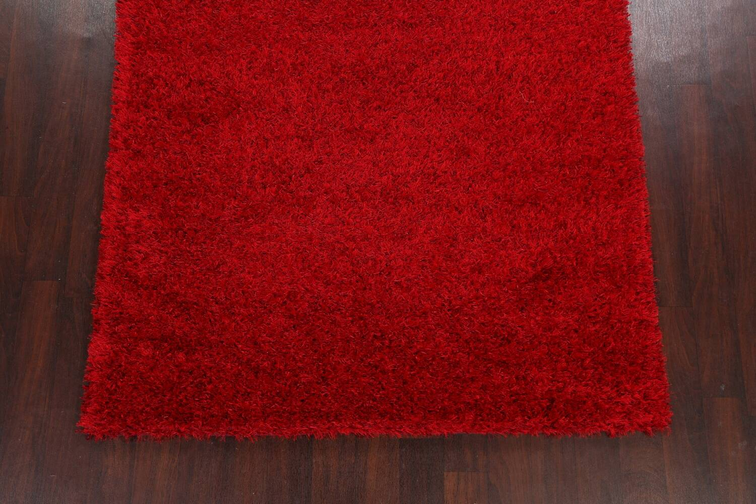 Red Plush Shaggy Area Rug 5x7 image 8