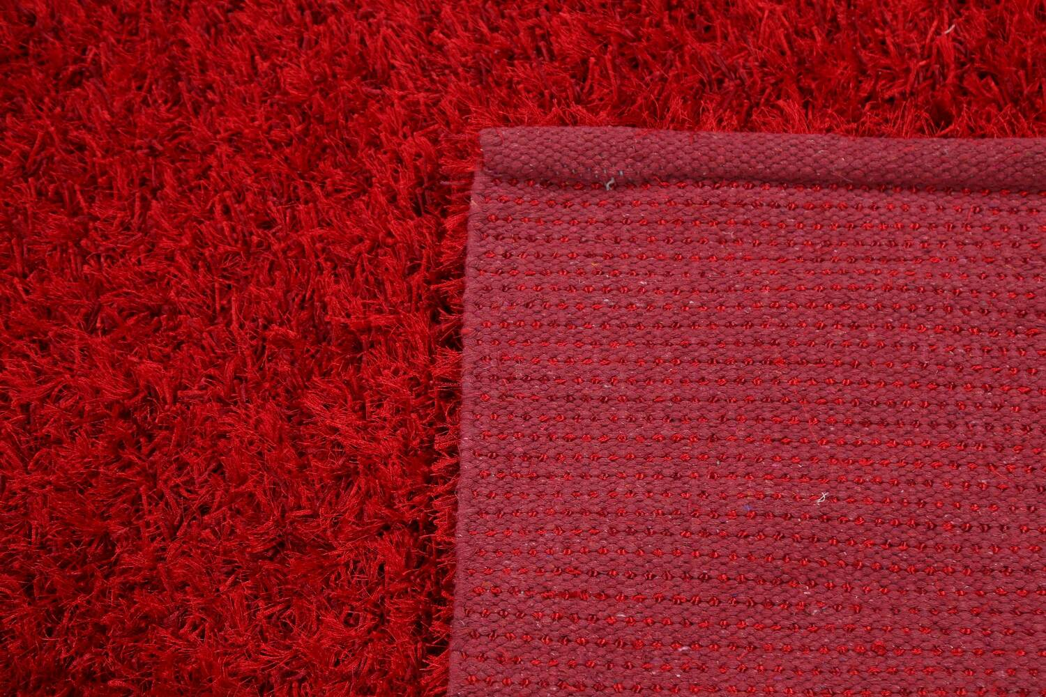 Red Plush Shaggy Area Rug 5x7 image 7