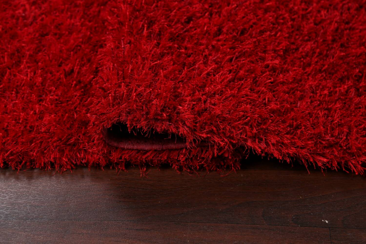 Red Plush Shaggy Area Rug 5x7 image 9