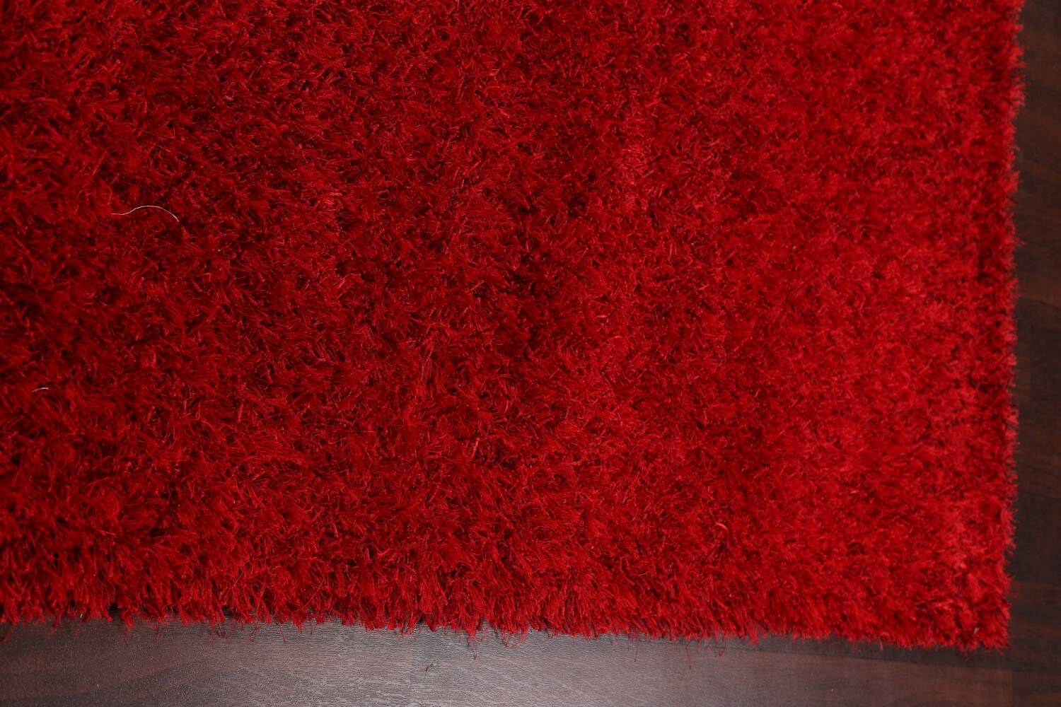 Red Plush Shaggy Area Rug 5x7 image 10