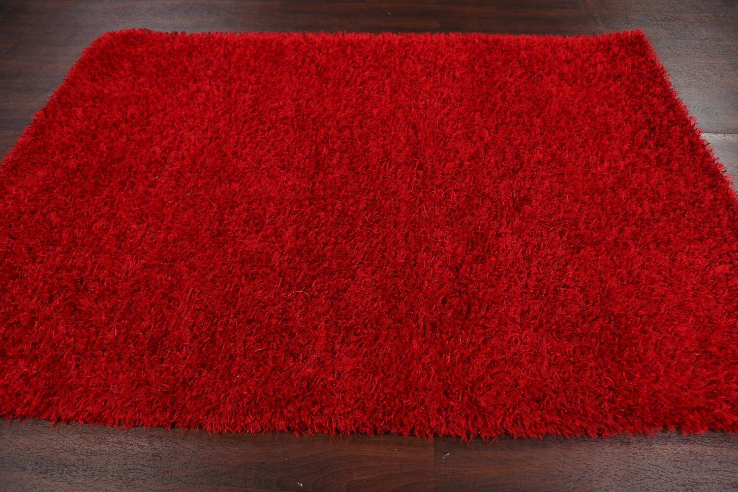 Red Plush Shaggy Area Rug 5x7 image 11