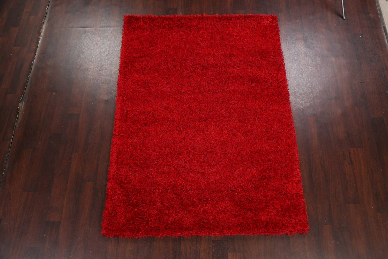 Red Plush Shaggy Area Rug 5x7 image 12