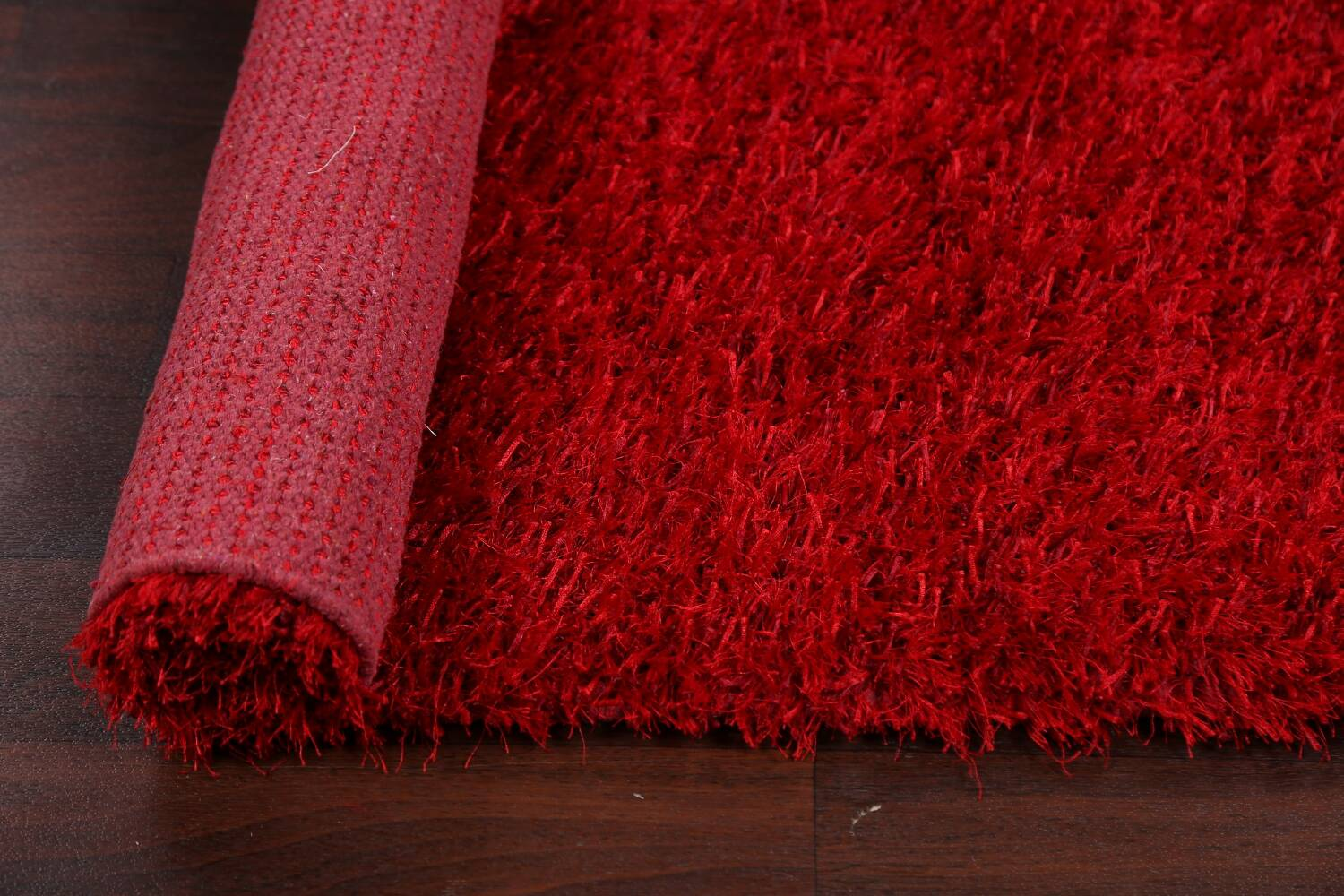 Red Plush Shaggy Area Rug 5x7 image 13