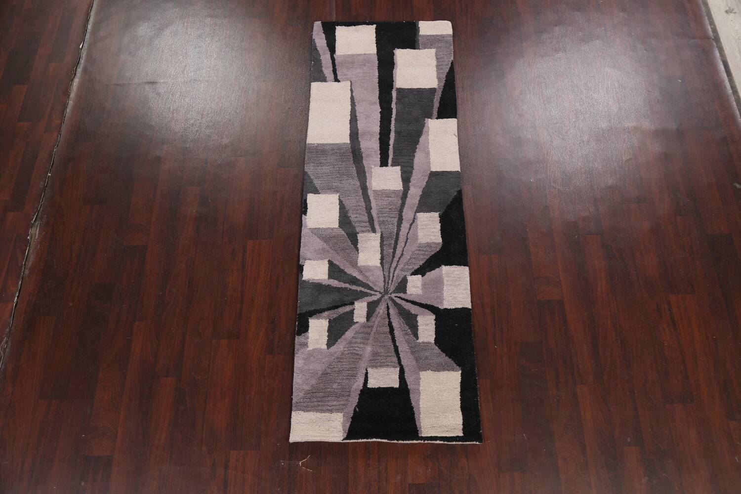 Contemporary Runner Rug 3x8 image 2