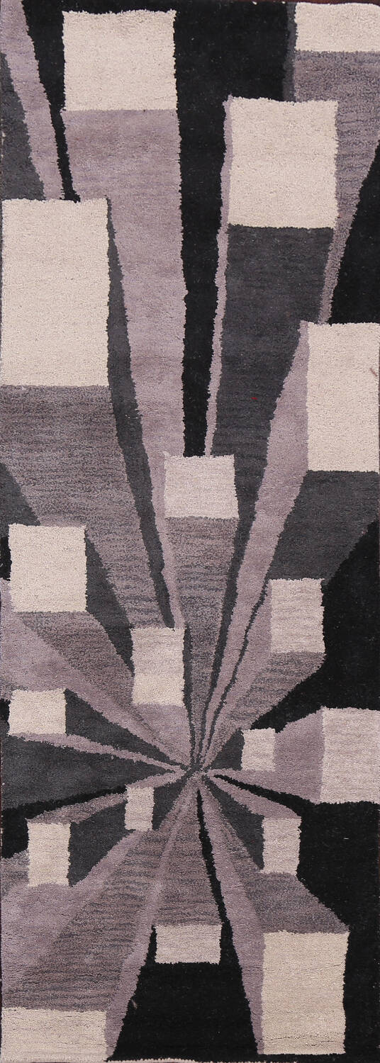 Contemporary Runner Rug 3x8 image 1