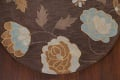 Floral Round Rug 5x5 image 5