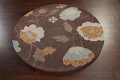 Floral Round Rug 5x5 image 8