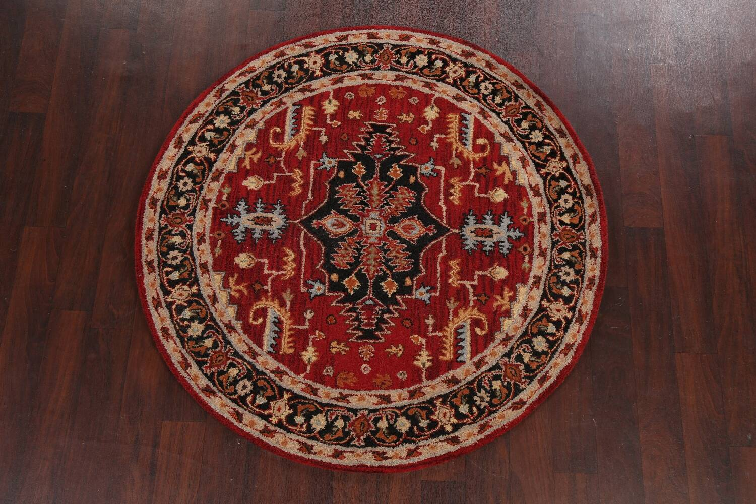 Floral Round Rug 5x5 image 10