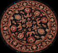 Floral Round Rug 5x5 image 1