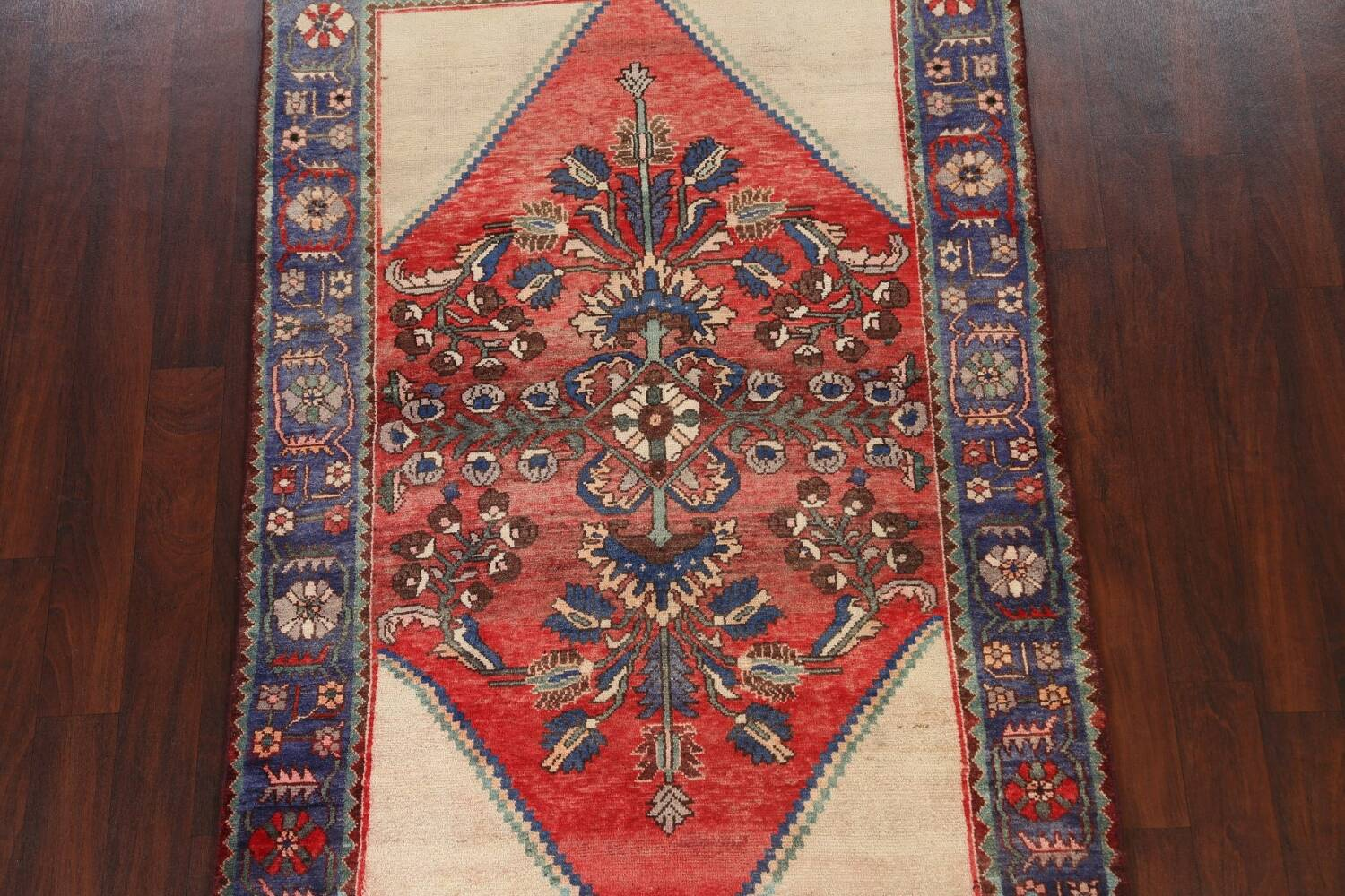 Antique Floral Malayer Persian Area Rug 4x7 image 3