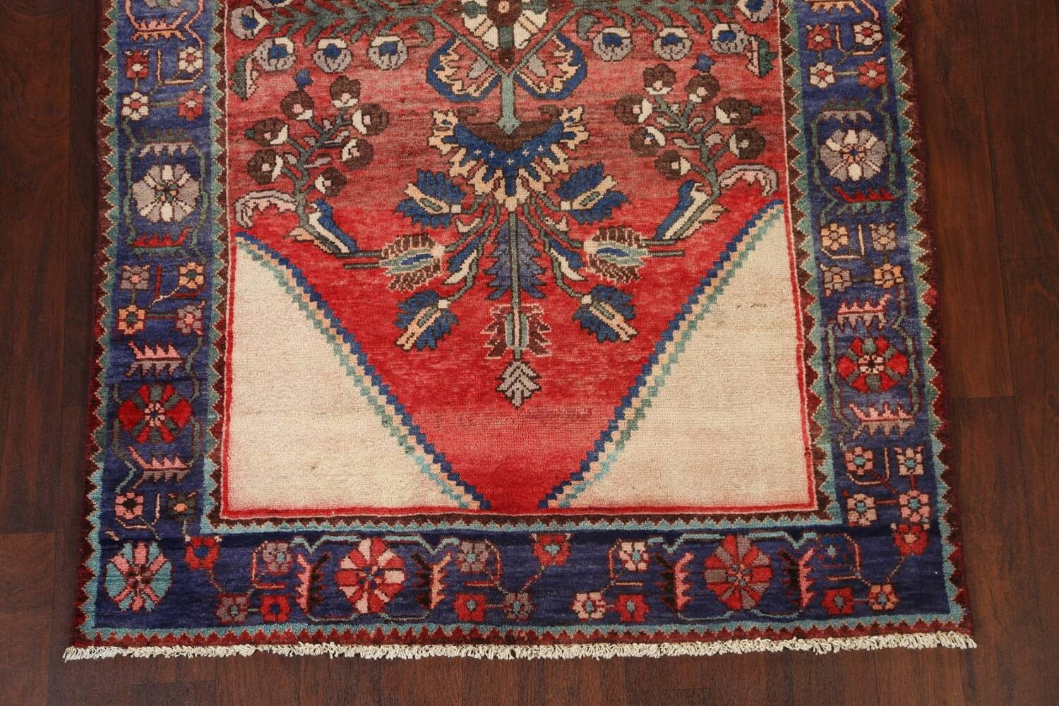 Antique Floral Malayer Persian Area Rug 4x7 image 5