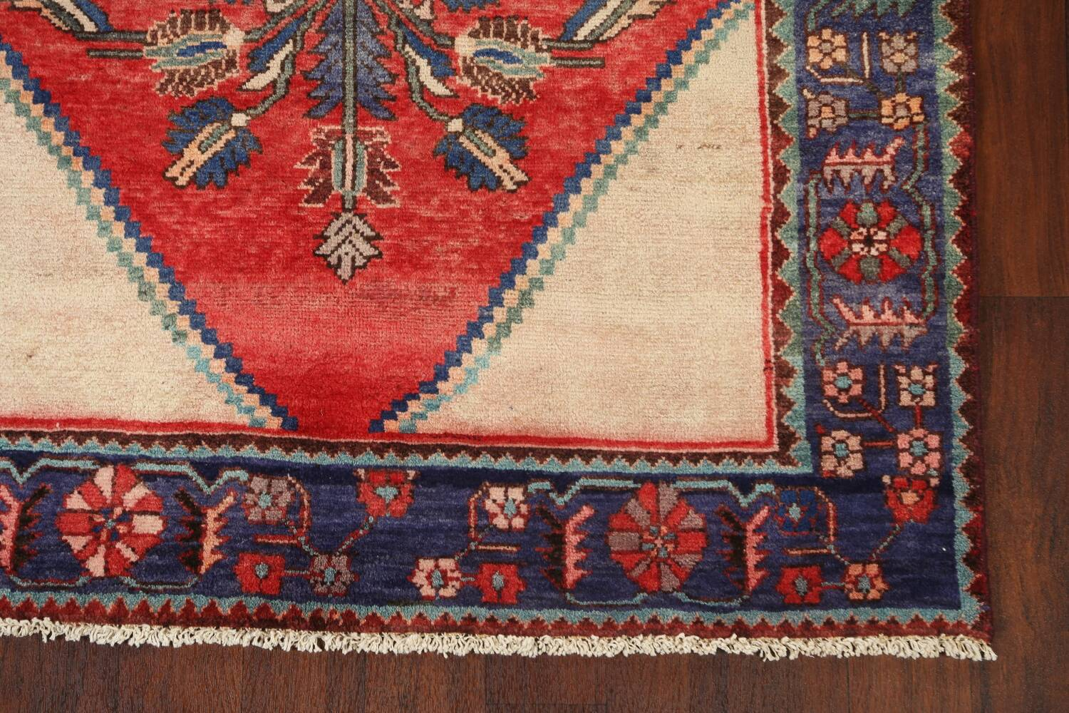 Antique Floral Malayer Persian Area Rug 4x7 image 6
