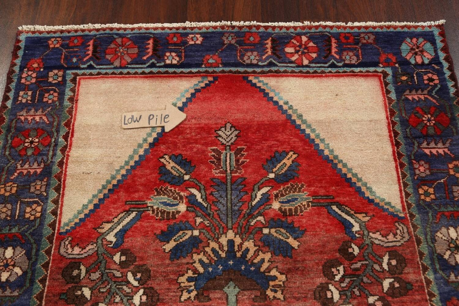 Antique Floral Malayer Persian Area Rug 4x7 image 10