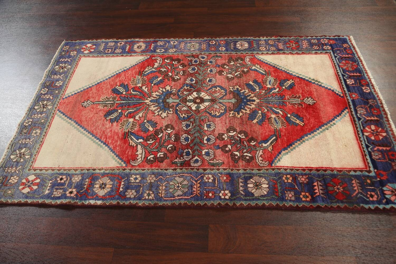 Antique Floral Malayer Persian Area Rug 4x7 image 16