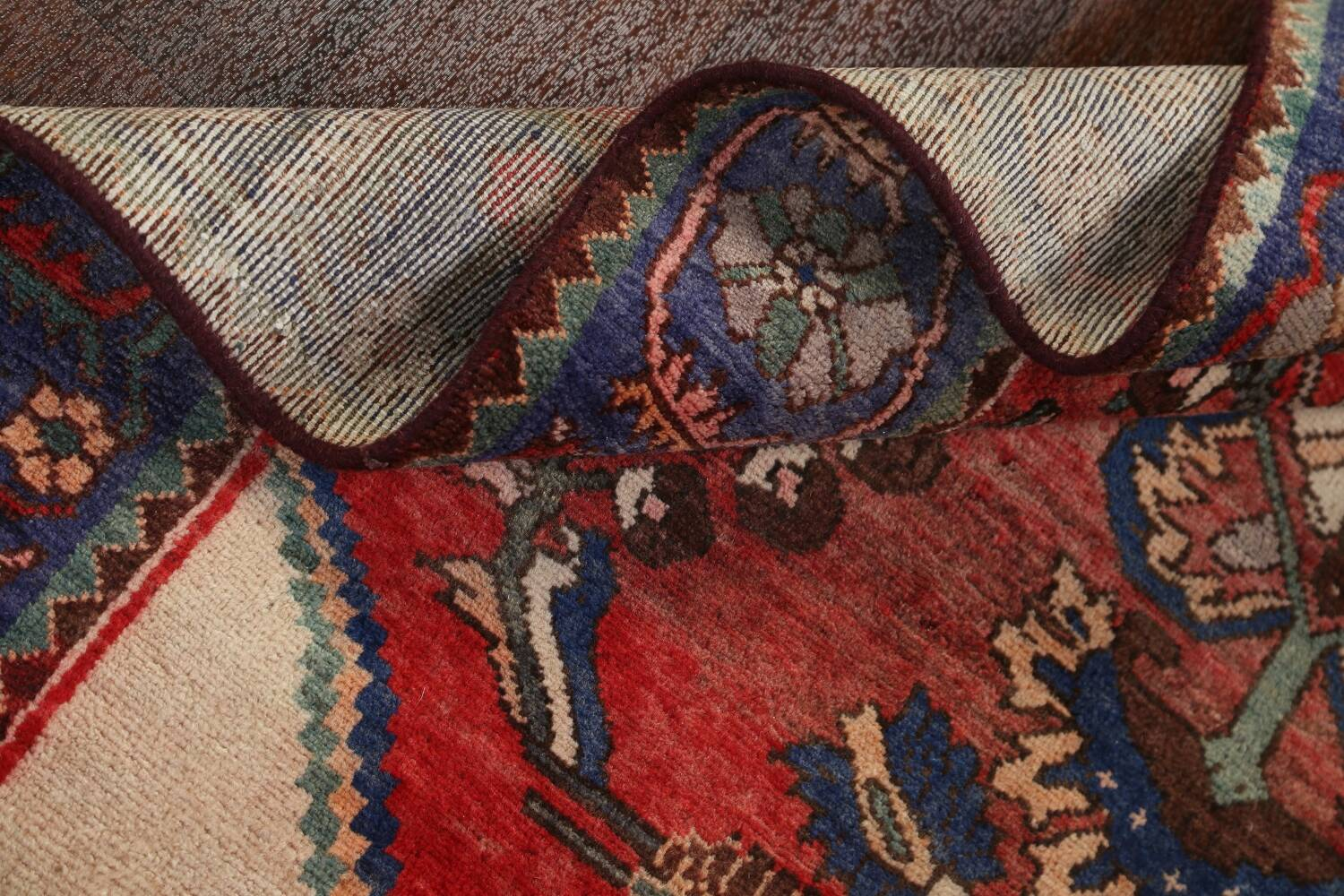 Antique Floral Malayer Persian Area Rug 4x7 image 19