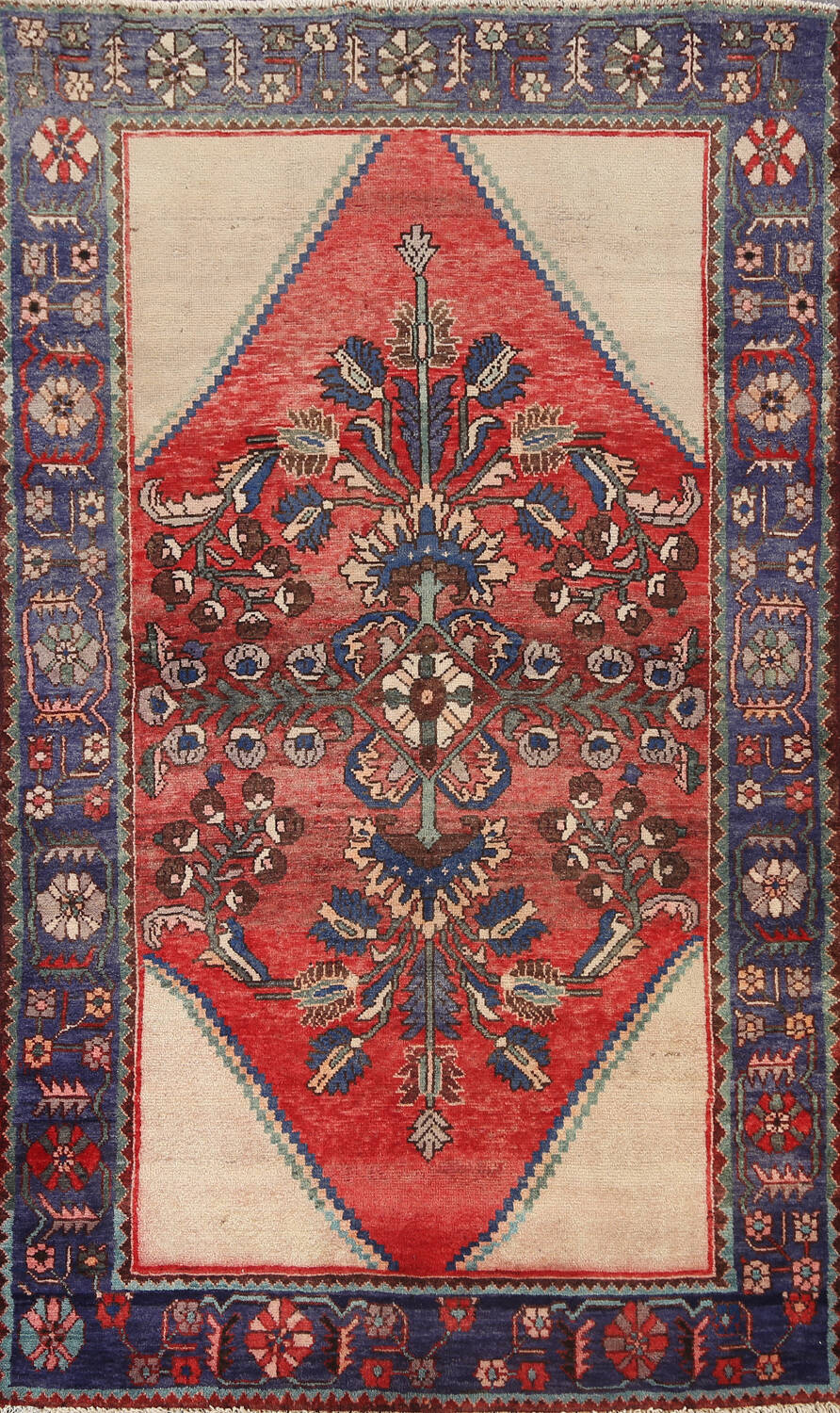 Antique Floral Malayer Persian Area Rug 4x7 image 1