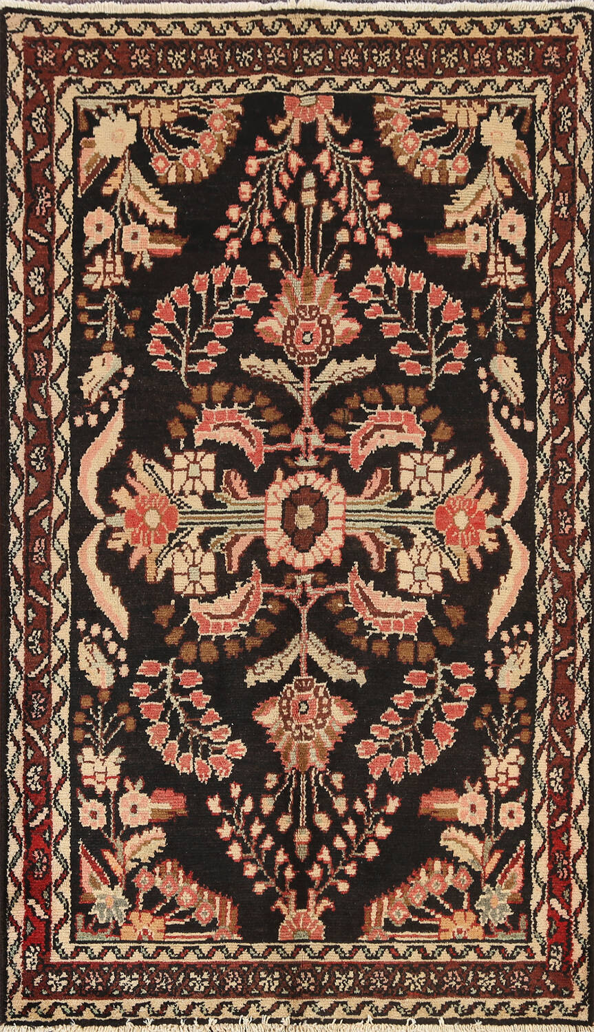 100% Vegetable Dye Floral Lilian Persian Area Rug 4x7 image 1