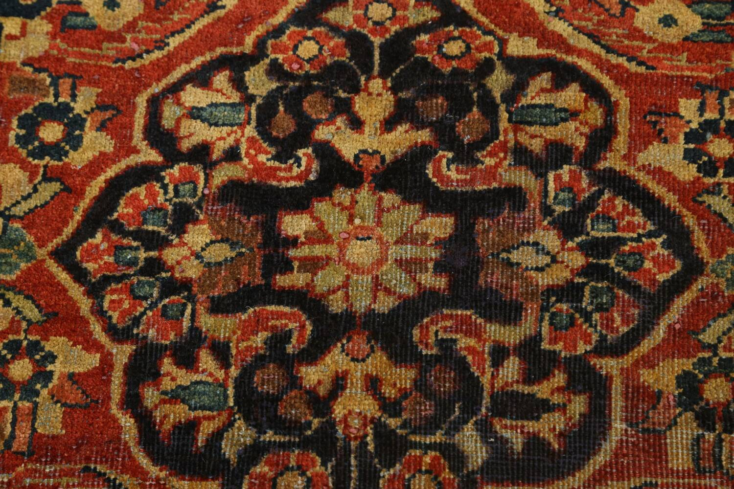 Antique Floral Mahal Persian Area Rug 4x7 image 8
