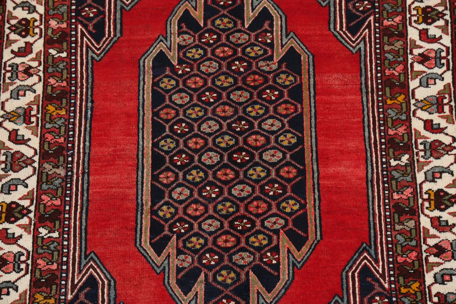 Geometric Malayer Persian Area Rug 4x7 image 4