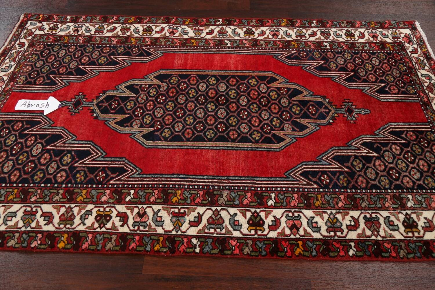 Geometric Malayer Persian Area Rug 4x7 image 13