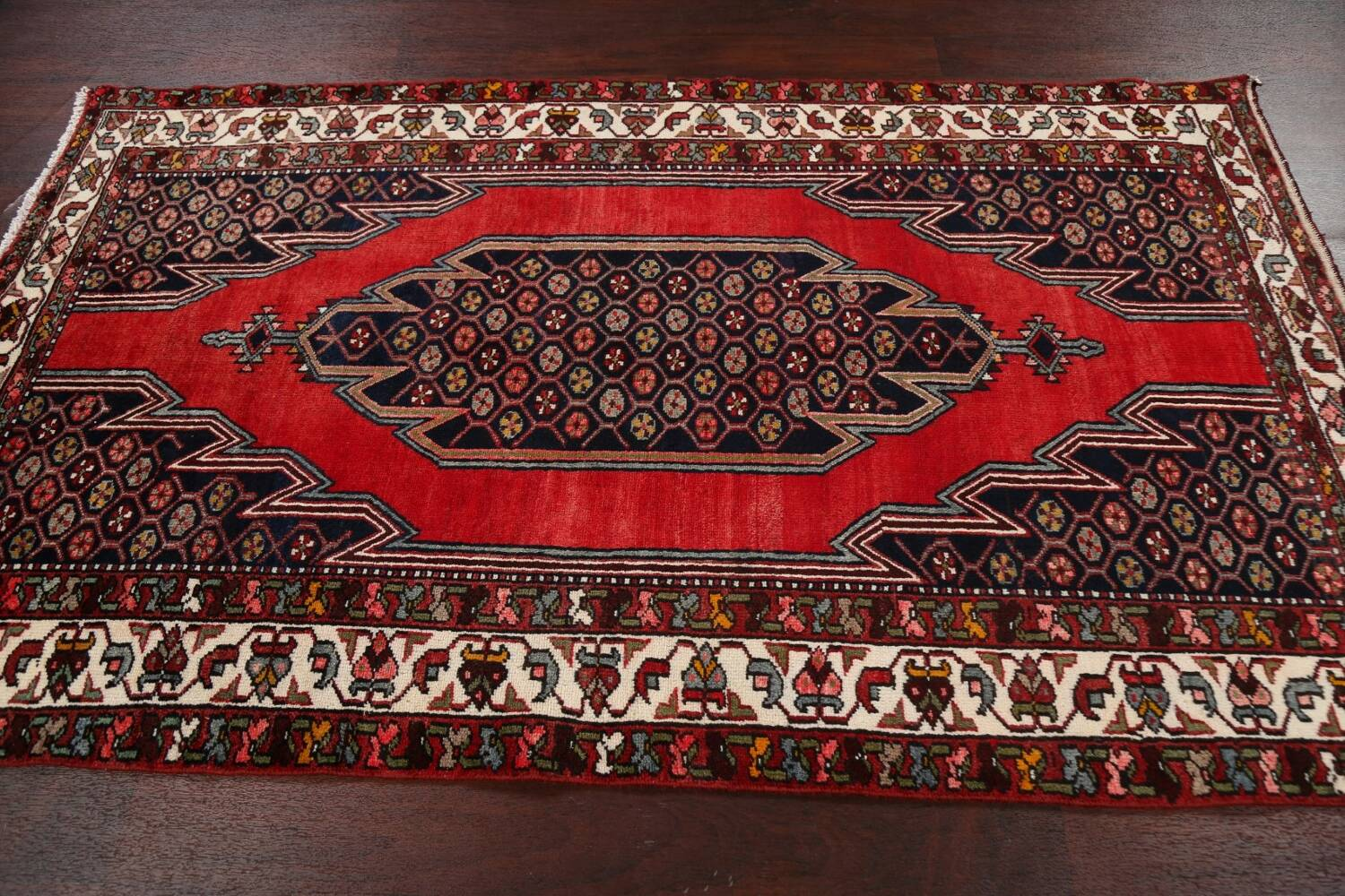 Geometric Malayer Persian Area Rug 4x7 image 16