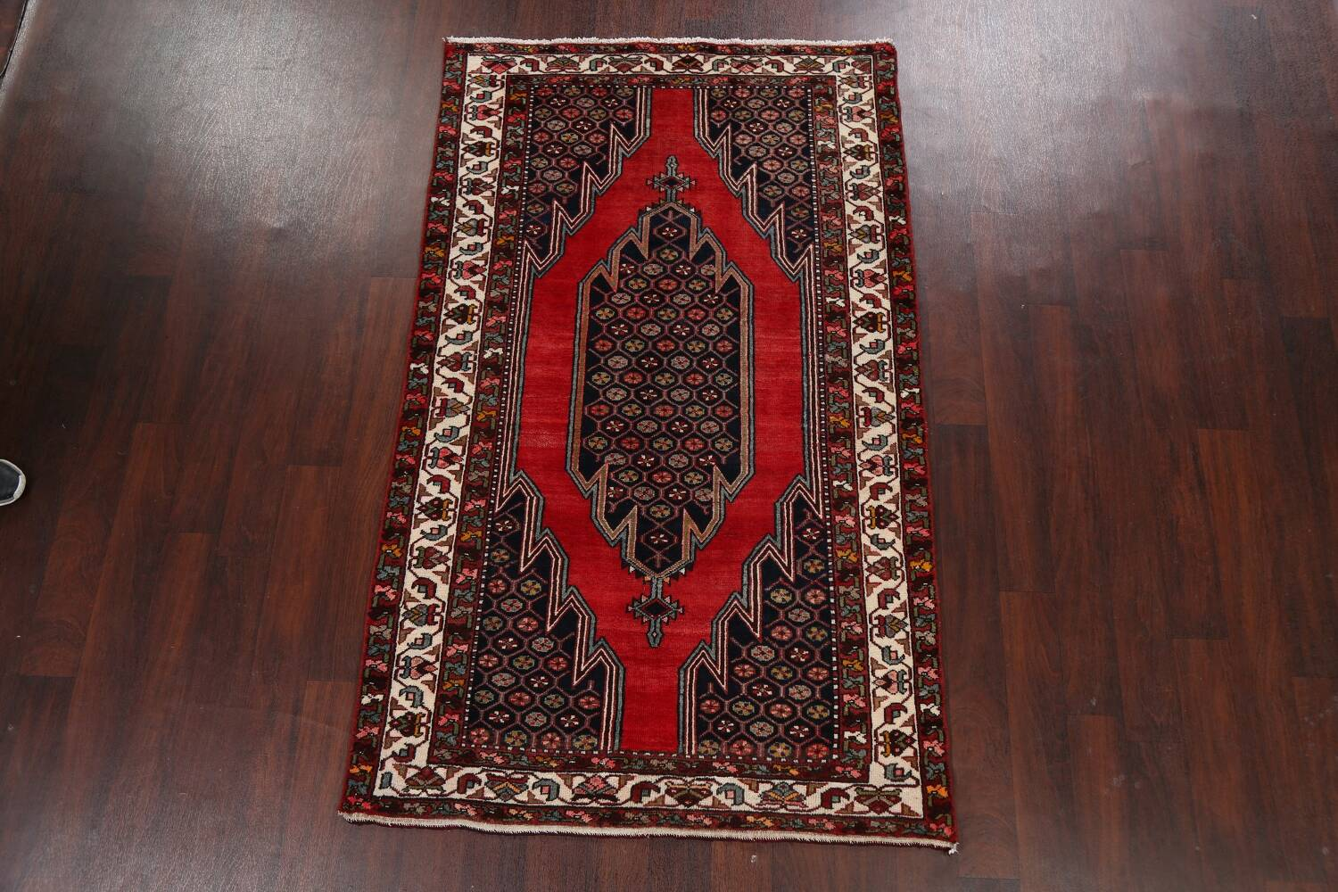 Geometric Malayer Persian Area Rug 4x7 image 17