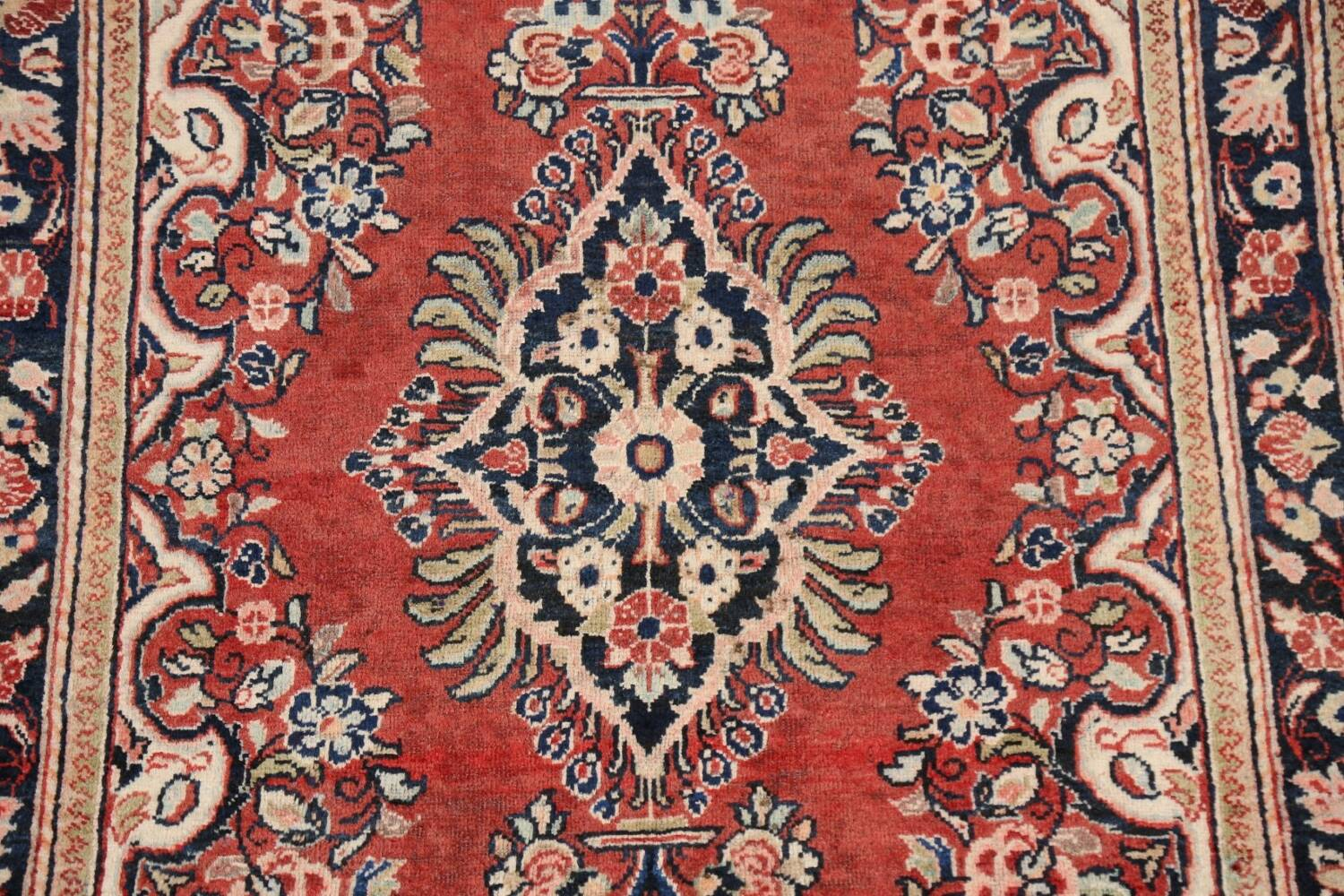 Floral Mahal Persian Area Rug 4x7 image 4