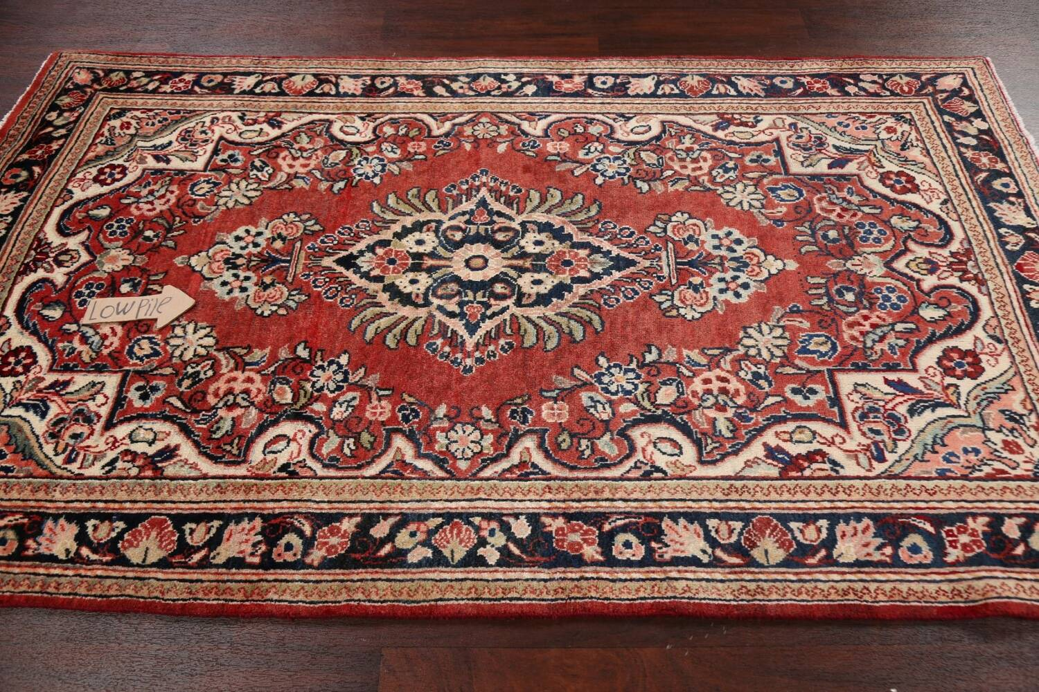 Floral Mahal Persian Area Rug 4x7 image 12