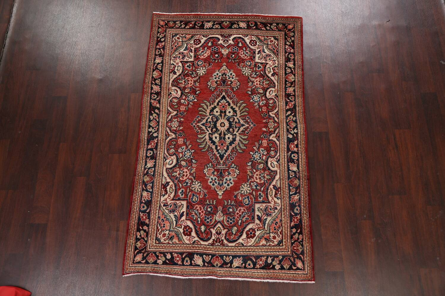 Floral Mahal Persian Area Rug 4x7 image 16