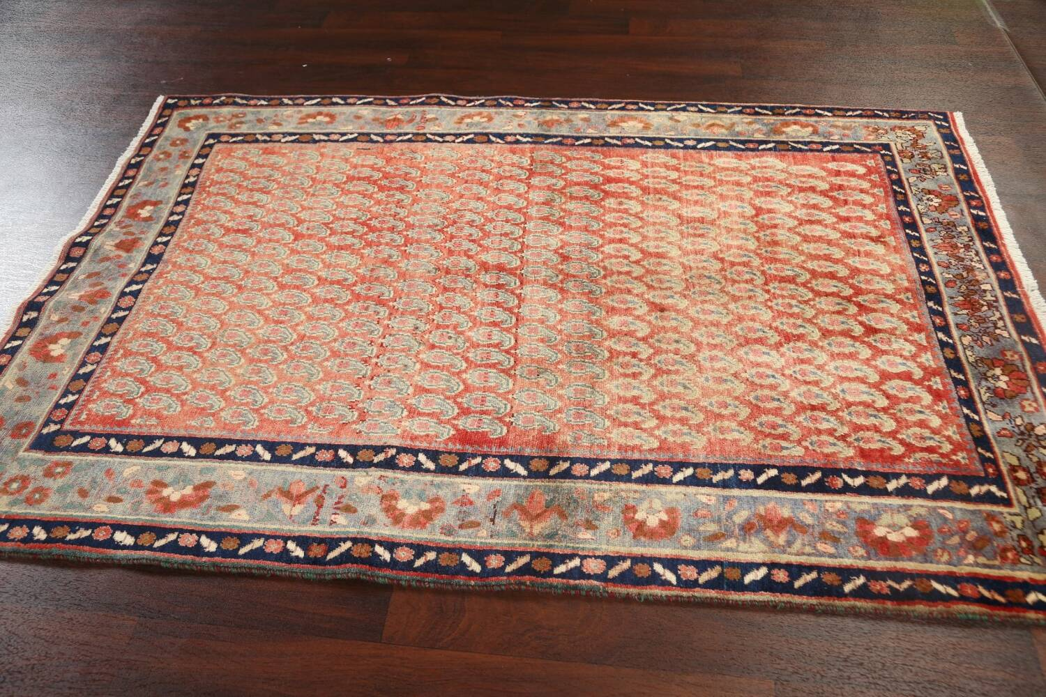All-Over Boteh Botemir Persian Area Rug 5x7 image 14