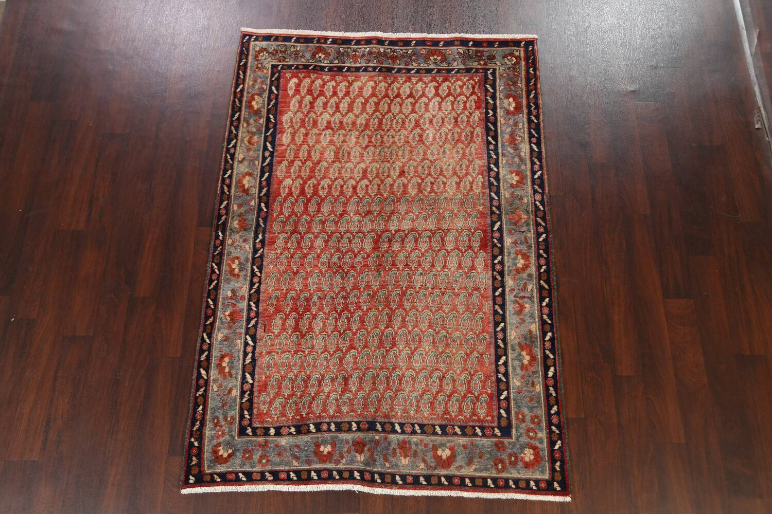 All-Over Boteh Botemir Persian Area Rug 5x7 image 15