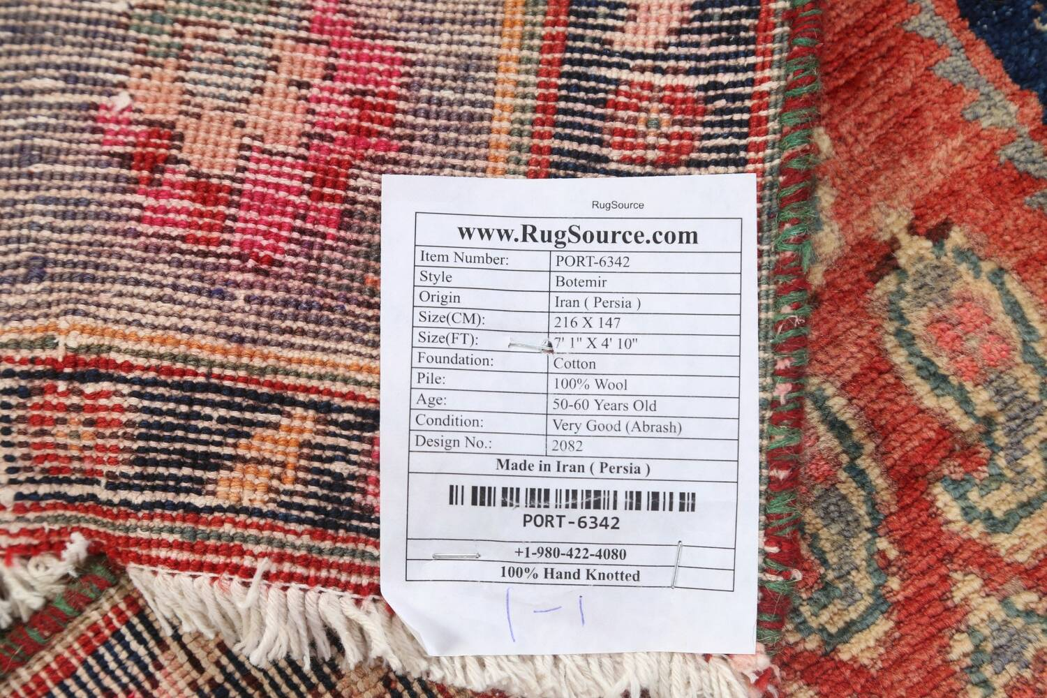 All-Over Boteh Botemir Persian Area Rug 5x7 image 20