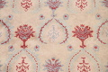 Pale Coral Hand-Tufted Floral Area Rug 6x8 image 4