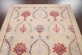 Pale Coral Hand-Tufted Floral Area Rug 6x8 image 9