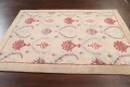 Pale Coral Hand-Tufted Floral Area Rug 6x8 image 12