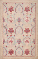 Pale Coral Hand-Tufted Floral Area Rug 6x8 image 1
