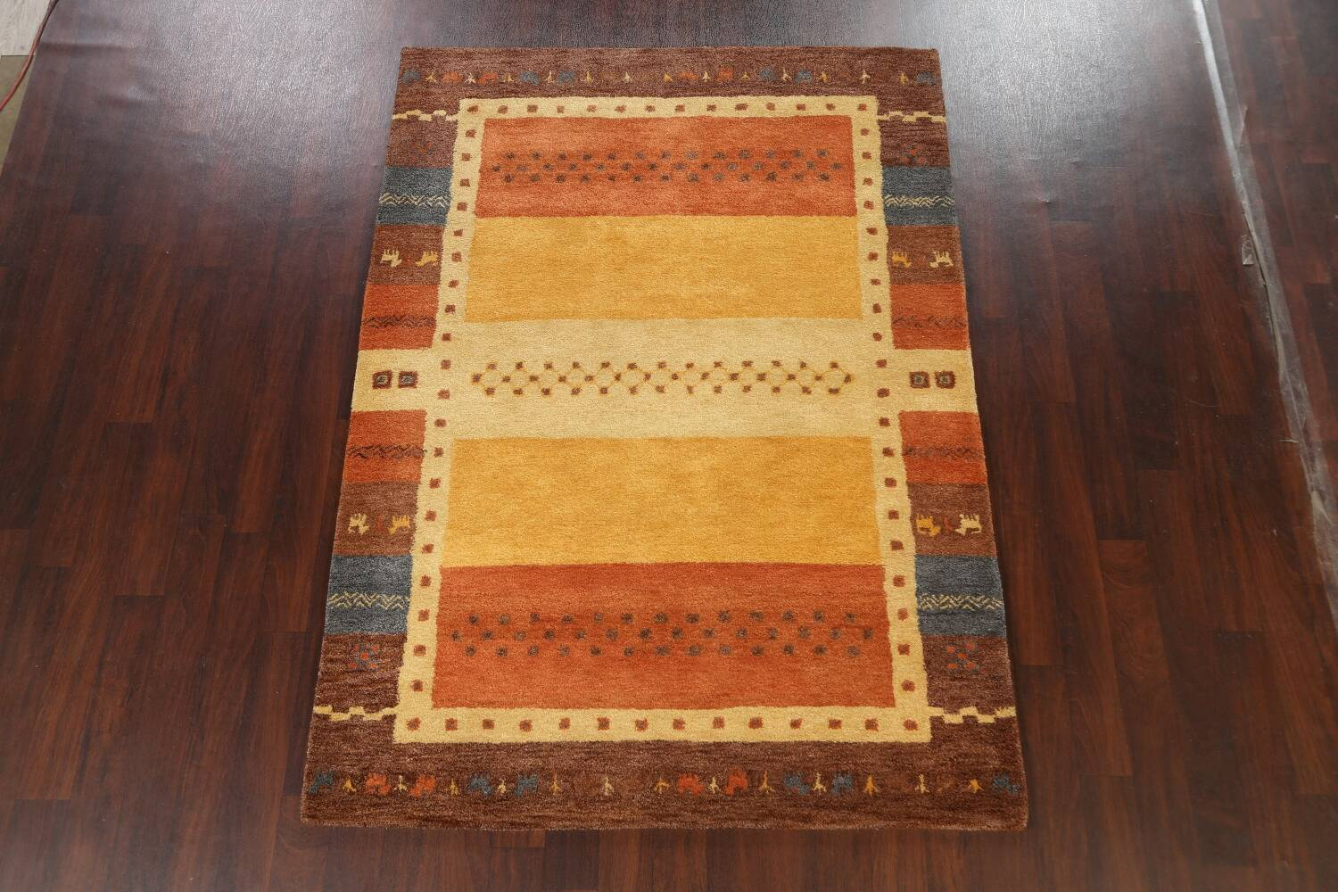 Hand-Tufted Tribal Gabbeh Area Rug 6x8 image 2